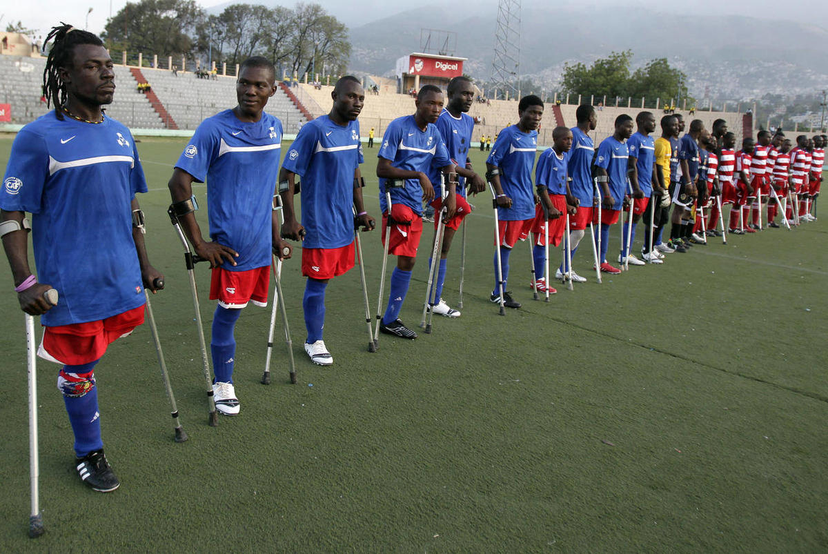 Football Removes Stigma From Haitian Amputees
